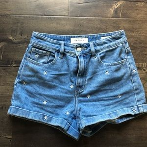Pacsun Daisy Denim Shorts